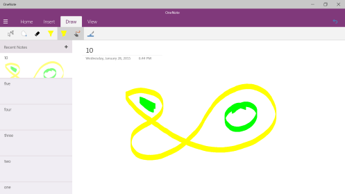 OneNote Windows 10 Preview