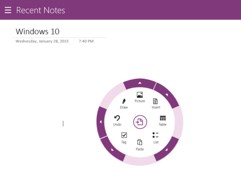 OneNote Windows 8.1