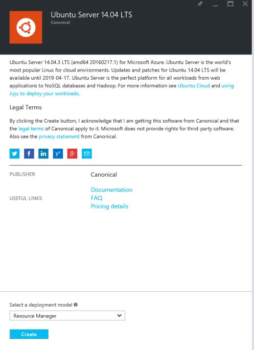 Ubuntu 14.04 mit Microsoft Azure