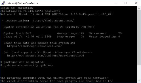 Connection to Ubuntu
